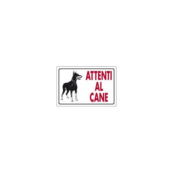 Cartello segnaletico attenti al cane feroce