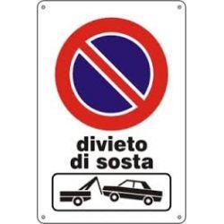 Cartello segnaletico divieto di sosta