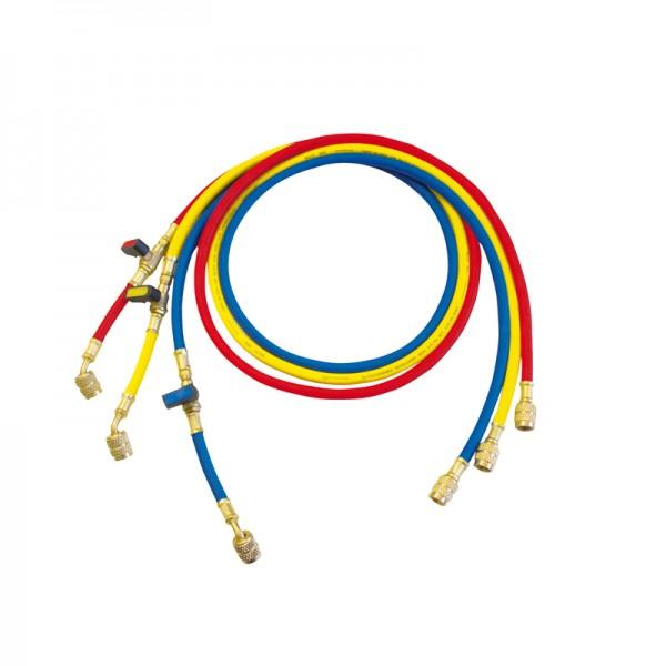 Set di 3 tubi flessibili 1/4 R22 R407 R404 Cod1500028