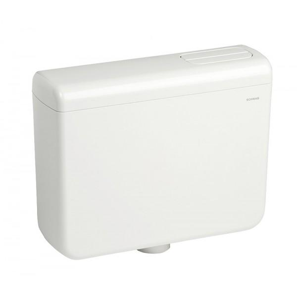 Cassetta scarico WC a zaino 1 pulsante SCHWAB IRIS MONO