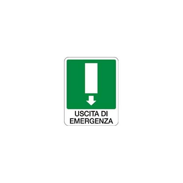 Cartello segnaletico uscita di emergenza