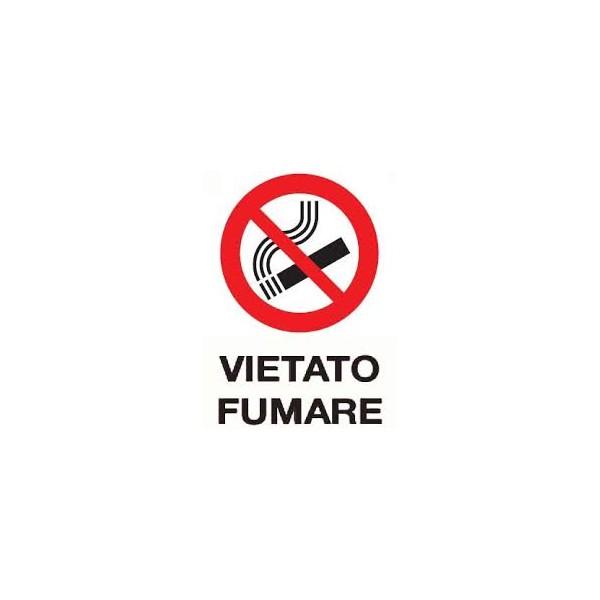 Cartello segnaletico vietato fumare