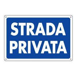 Cartello segnaletico strada privata