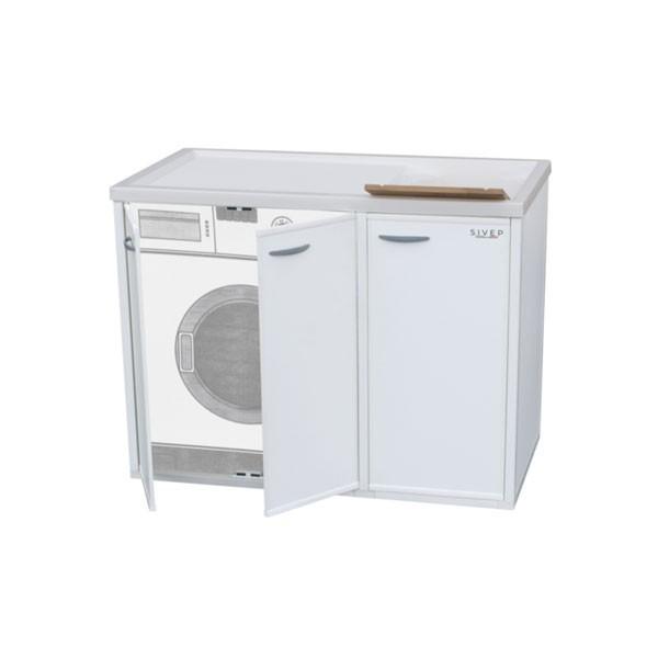 Mobile copri lavatrice e lavatoio in resina con sportelli - Mobile lavatrice e lavatoio ...