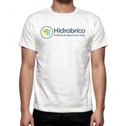 T-Shirt in cotone con logo Hidrobrico
