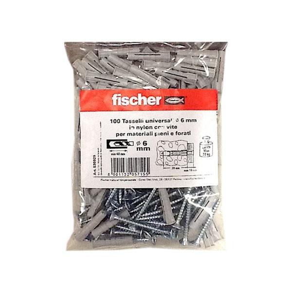Tasselli in nylon universali 6mm Fischer - 536929