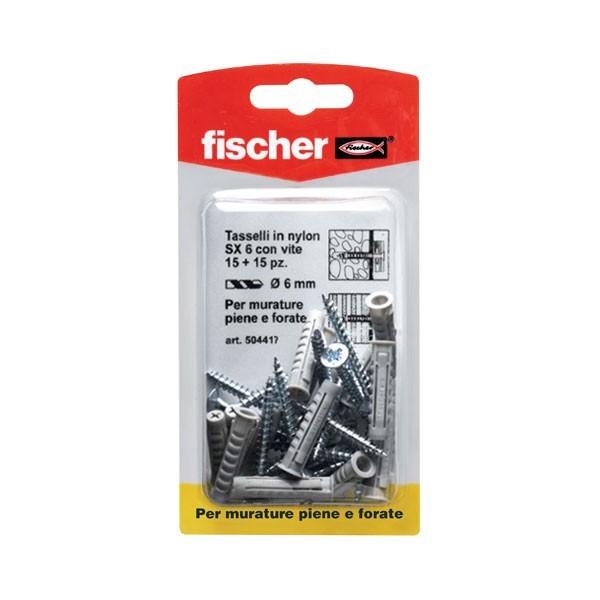 Tasselli in nylon SX 6 SK Fischer - 504417