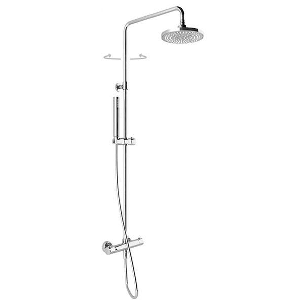 Braccio doccia quadrato 30 cm