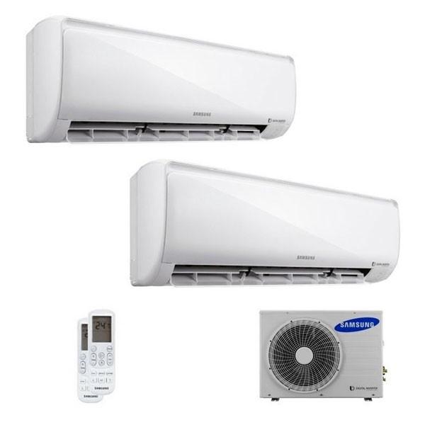 Climatizzatore Samsung Dual Split WINDFREE 7000+7000 con AJ040FCJ Smart WiFi 7+7