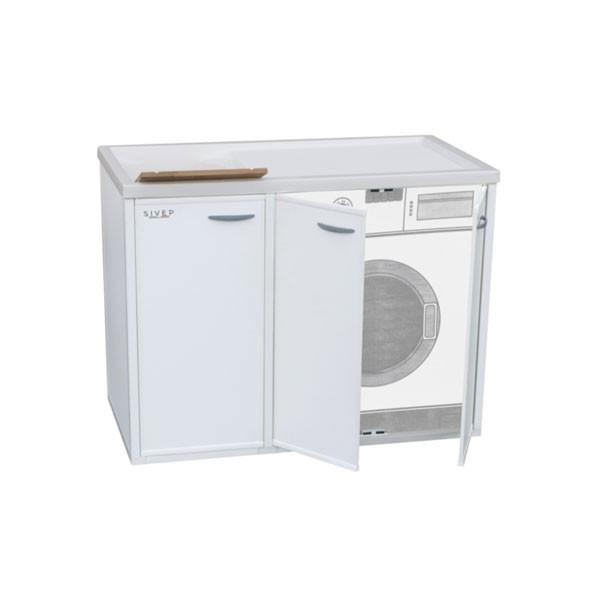 Mobile copri lavatrice destra lavatoio in resina con sportelli apri - Mobile lavatrice e lavatoio ...