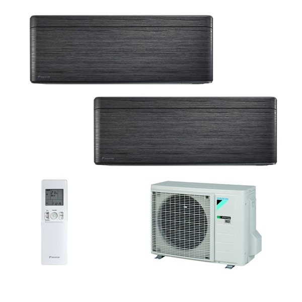 Climatizzatore Daikin Dual Split STYLISH Blackwood inverter R 32 bluevolution 9000+9000 con 2MXM40M 9+9