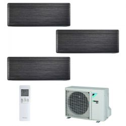 Climatizzatore Daikin Trial Split STYLISH Blackwood inverter R 32 bluevolution 9000+9000+12000 con 3MXM52M 9+9+12