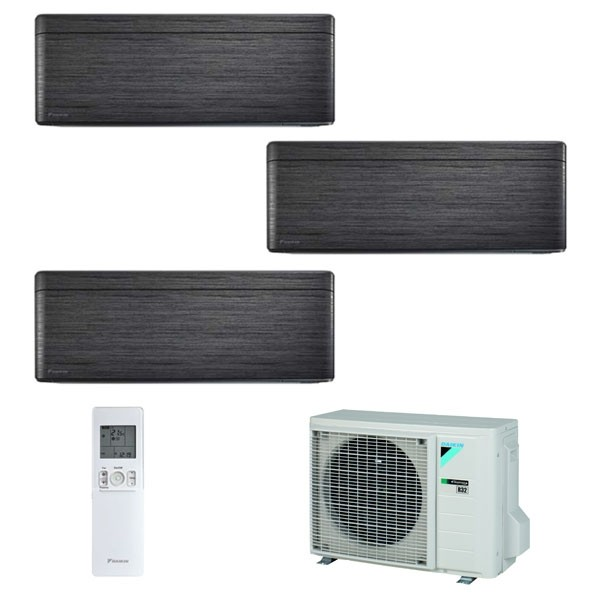 Climatizzatore Daikin Trial Split STYLISH Blackwood inverter R 32 bluevolution 9000+9000+9000 con 3MXM52M 9+9+9