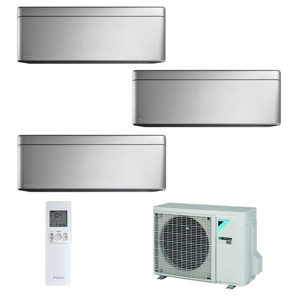 Climatizzatore Daikin Trial Split STYLISH Silver inverter R 32 bluevolution 9000+9000+9000 con 3MXM52M 9+9+9