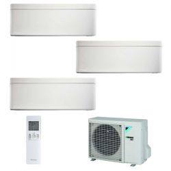 Climatizzatore Daikin Trial Split STYLISH Bianco inverter R 32 bluevolution 9000+9000+12000 con 3MXM68M 9+9+12