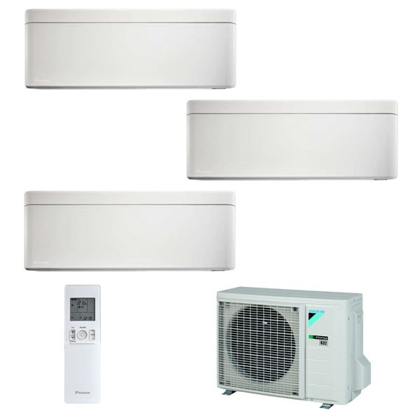 Climatizzatore Daikin Trial Split STYLISH Bianco inverter R 32 bluevolution 9000+9000+12000 con 3MXM52M 9+9+12