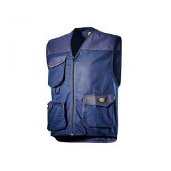 Gilet Multitasche Diadora Mover Blu Classico - 702.160302