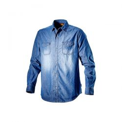 Camicia da lavoro Diadora Shirt Denim New Blue Washing - 702.171663