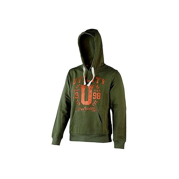 Felpa con cappuccio Diadora Sweatshirt Hood Graphic Verde Militare - 702.171665