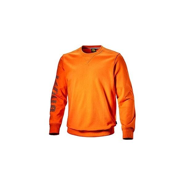7938464b7cbb8 Felpa Diadora Sweatshirt Falcon II Arancio Vermiglio - 702.171661