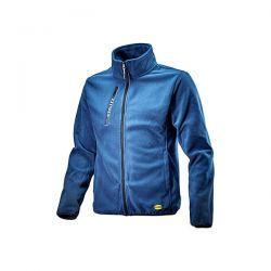 Felpa Diadora Sweat Pile FZ Blu Denim Scuro - 702.172118