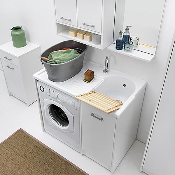 Lavatoio copri lavatrice con vasca destra domestica colavene 106x50 - Copri vasca da bagno ikea ...