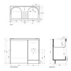 Lavapanni Domestica Colavene 80x45x86 - DL8045B