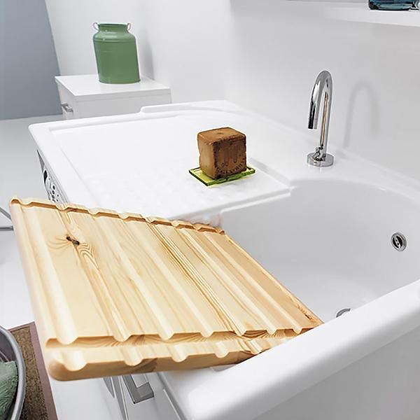 Lavatoio copri lavatrice con vasca destra domestica for Mobili 90 x 60