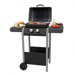 Barbecue a Gas con 2 Bruciatori + 1 Bruciatore Laterale Gordon Burner