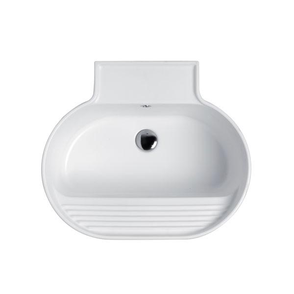 Lavabo Sospeso o Da Appoggio Tino Colavene 60x50x30 Bianco Lucido - LATN6050