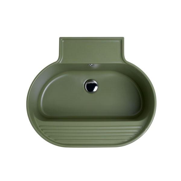 Lavabo Sospeso o Da Appoggio Tino Colavene 60x50x30 Verde Mamboo Opaco - LATN605V