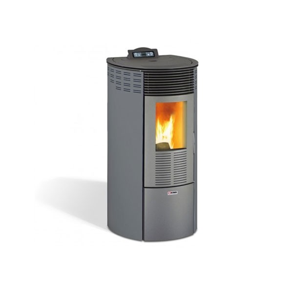 Stufa a Pellet King 12 Round Antracite 230 m3 10,1 kW - 93061