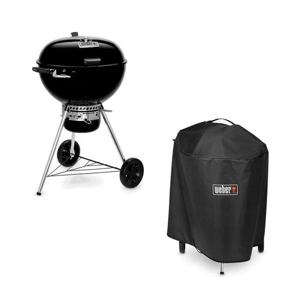Barbecue a Carbone Weber Master-Touch GBS Premium E-5770 + Custodia per Barbecue Weber - 7186