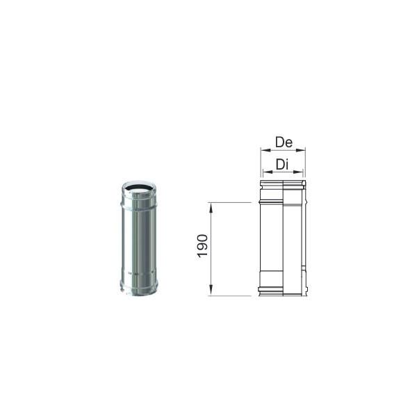 Tubo PP Inox 80/100 da 250 mm