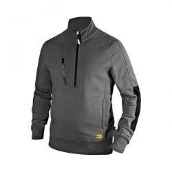 Felpa con zip Diadora Sweatshirt HZ Litework Grigio Acciaio - 702.175944