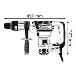 Martello Perforatore GBH 36V-EC Compact Bosch - 2 Batterie + Punte + Mandrino