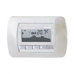 Cronotermostato Cewal RTC 100 Bianco Incasso Settimanale Digitale
