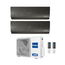 Climatizzatore Haier Dual Split Flexis Nero 9000+12000 2U40S2SM1FA R-32 A++/A+ 9+12