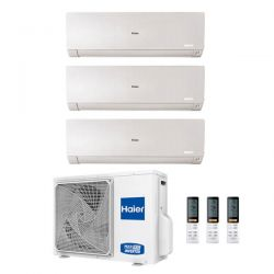 Climatizzatore Haier Trial Split Flexis Bianco 9000+9000+12000 3U55S2SR2FA R-32 A++/A+ 9+9+12
