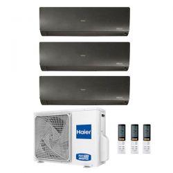 Climatizzatore Haier Trial Split Flexis Nero 9000+9000+9000 3U55S2SR2FA R-32 A++/A+ 9+9+9