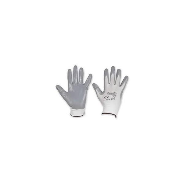 Guanto nylon nitrile grigio tg 10