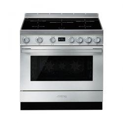 Cucina con Piano Induzione e Forno Pirolitico Multifunzione Smeg Portofino Classe A+ Inox - CPF9IPX