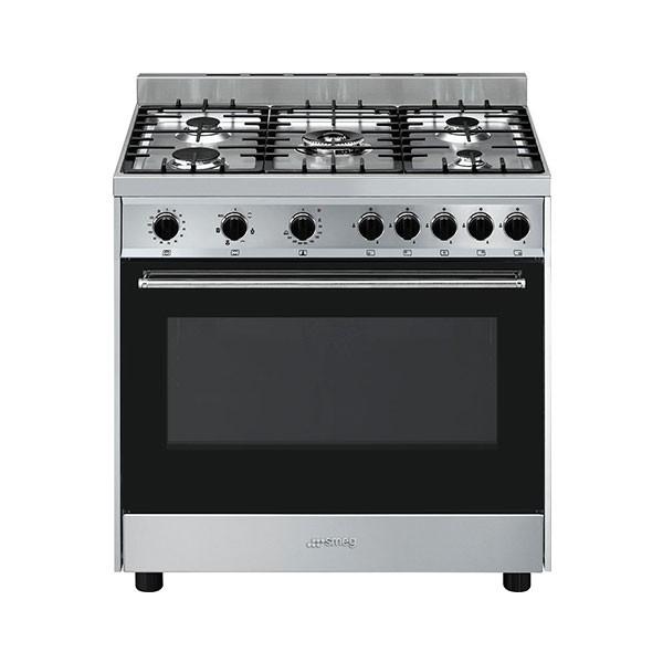Cucina con Piano a Gas e Forno Termoventilato Smeg Master Classe A Inox - B91GMXI9