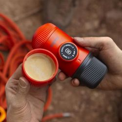 Macchina da Caffe Portatile Wacaco Nanopresso Moss Green + Case