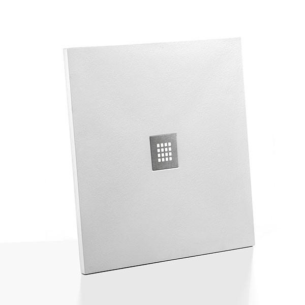 Piatto Doccia Filopavimento Ponsi 70x120 cm Effetto Pietra Bianco
