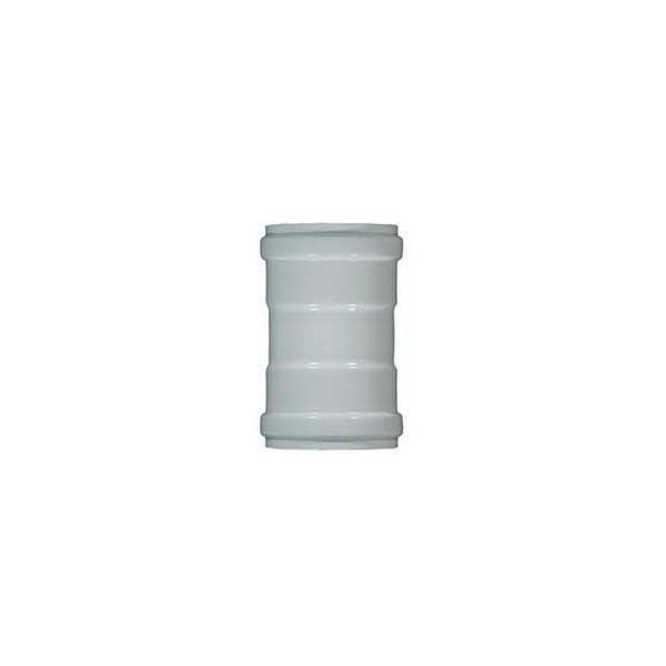 Manicotto alluminio bianco da 80 F/F