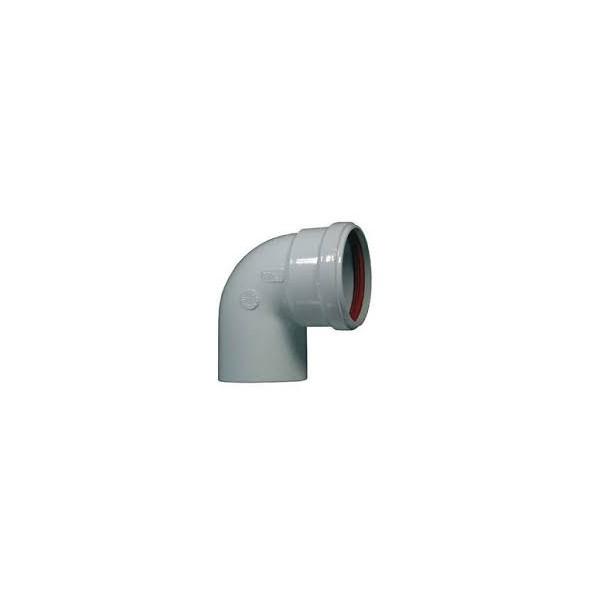 Curva alluminio bianco da 80 M/F 90°