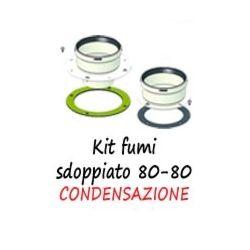 Kit scarico sdoppiato per condensazione 80-80