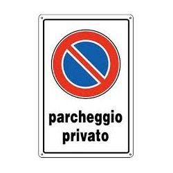Cartello segnaletico parcheggio privato