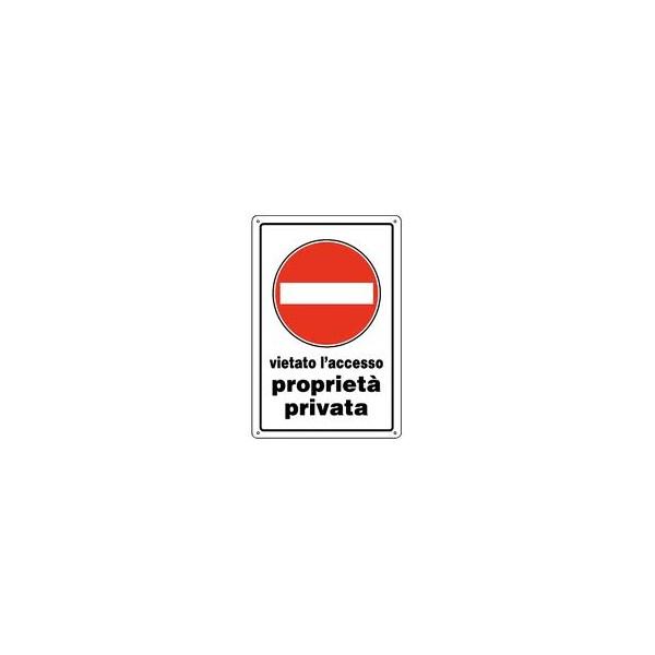 Cartello segnaletico vietato l'accesso